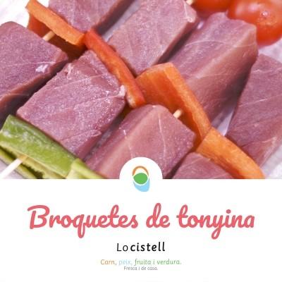 Broquetes de tonyina