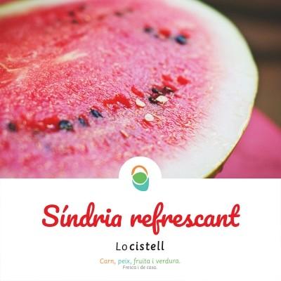 La síndria, hidratant i saludable